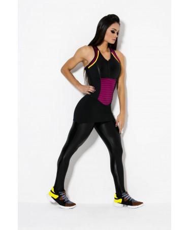 tuta in cirre' fitness, tuta stoffa lucida per sport, fitness wear online, moda brasiliana,