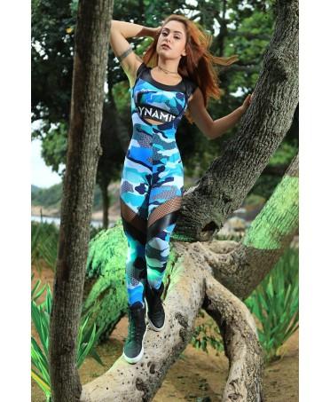 tuta topless dynamite, sport wear in tulle, abbigliamento sportivo sexy, tuta contenitiva e traspirante body building,