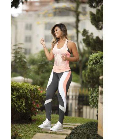 leggign oxyfit in supple grigio rosa e bianco, fantalegging sexy wear, acquistare coordinati online,