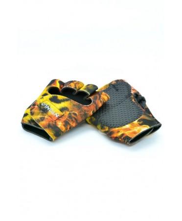 guanto maculato da palestra, con palmo antiscivolo e imbottito e tinta maculata, fantaleggins accessori e scarpe per fitness,