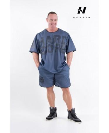 shorts hardcore nebbia grey a gamba larga, vendita online abbigliamento uomo, completi sportivi,