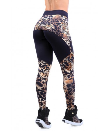 Leggings DYNAMITE LEOPARD PRINT WITH MINI-SKIRT AND SOCK