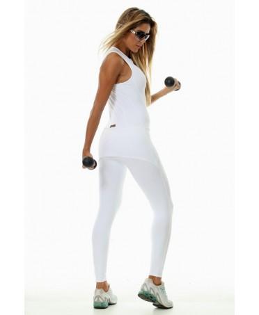 tuta bianca aderente con minigonna,contenitiva e comoda ideale per il tempo libero,particolare modello fashion