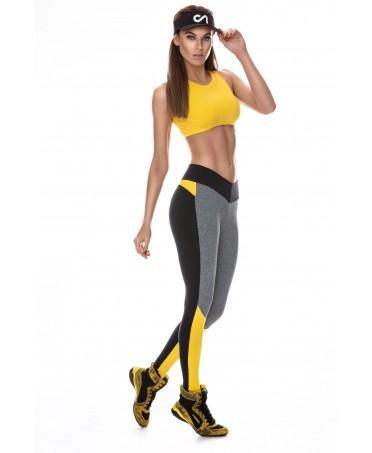 legging multicolo donna canoan, effetto rassodante sui glutei, tessuto compatto e traspirante,