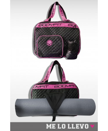 Gym bag black quilted Bodyfit, sportswear, bologna, sportswear, elegant,