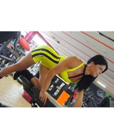 tuta donna gialla el nagual per il workout ed il tempo libero, moda sportiva su fantaleggins.com