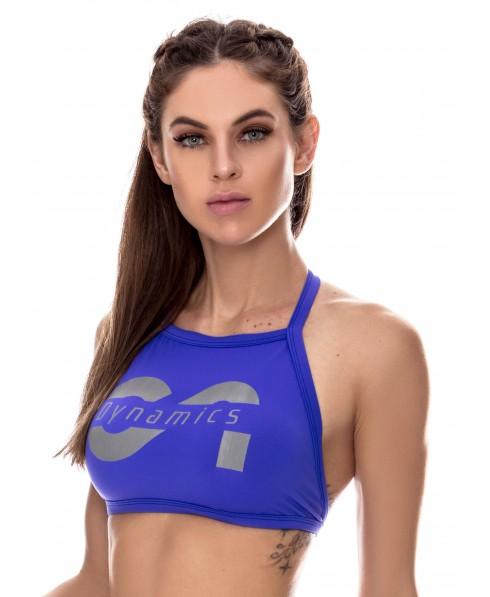 TOP blu canoan, top semplice fitness, top spallina stetta, top corto logo canoan