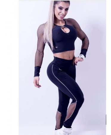 LEGGING BLACK AND SILVER PEOPLE FIT