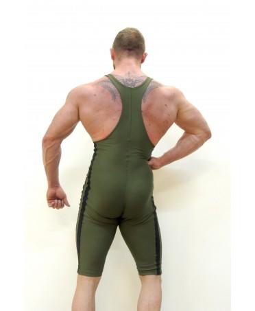 tuta aderente el nagual da uomo, abbigliamento body building, traspirante contenitiva, top workout