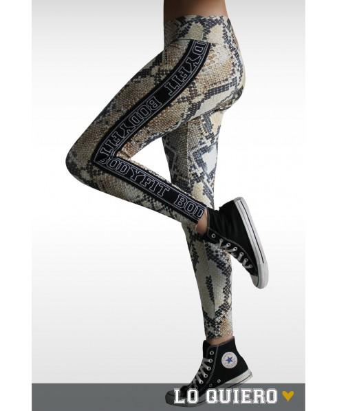 Pantacollant fantasia animal Bodyfit,  abbigliamento sportivo e per il tempo libero, abbigliamento sportivo verona,