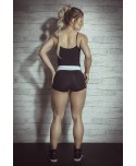 top fitness corset Maria Guiexa, top bustino per sport, fashion leggings store,
