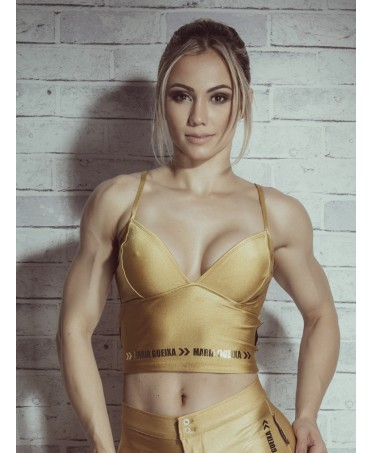 TOP SPORTIVO ORO PERFECT FITNESS MARIA GUEIXA