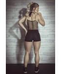 Tuta aderente con short contenitiva, body per fitness e tempo libero, body tessuto traspirante,