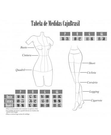 Legging nero Cajubrasil con inserto in microrete traforata nera in lycra lucida per il legging contenitivo,