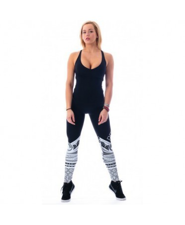 LEGGING SUPPLEX & TATTOO MODEL NERO NEBBIA