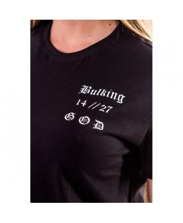 Cross Modello Donna Cotone T Shirt Nera Stampata In Bulking Da Sportiva 2D9IEH