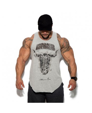 MAN'S GREY TANK TOP MONSTER BULKING