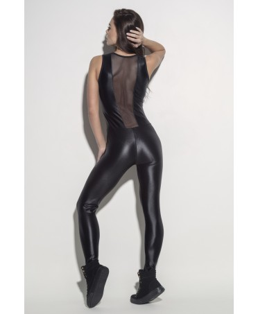 OVERALLS-GLOSS BLACK WITH TULE SUPERHOT
