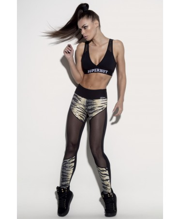 LEGGING MACULATO CON GAMBA IN TULLE SUPERHOT FIERCE