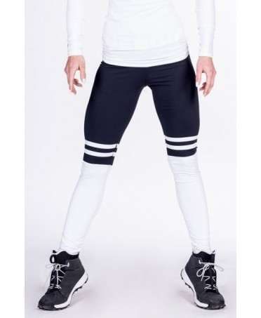 LEGGING PUSH UP COLLEGE NERO NEBBIA OVER THE KNEE