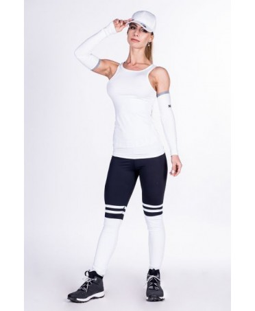 LEGGINGS PUSH-UP COLLEGE BLACK FOG OVER THE KNEE