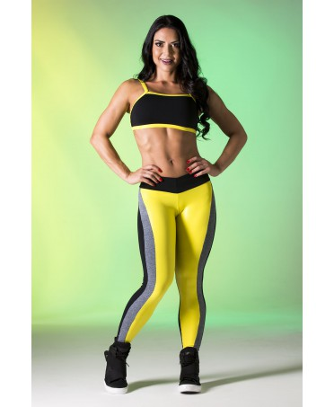 leggings yellow shiny and black anyway Canoan