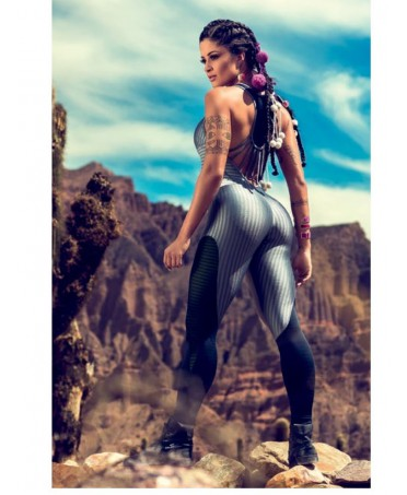 Tuta Cajubrasil intera grigio metallico, leggings fashion 2017, outfit leggings jeans, abbigliamento sportivo sexy,