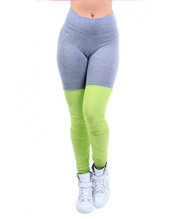 YOGA Leggings GREY GREEN...