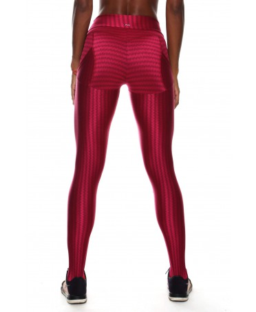 LEGGINGS PUSH UP ROSSO...