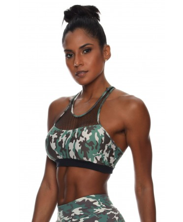 TOP CAMOUFLAGE GREEN PADDED...
