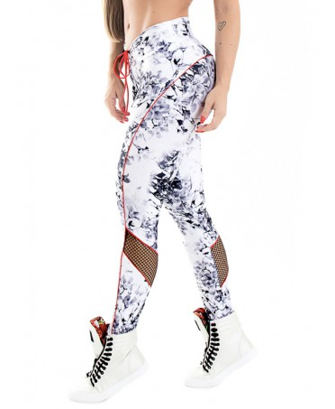 LEGGINGS MARBLED WITH MESH...