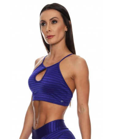TOP PUSH UP BLUE GLOSSY...
