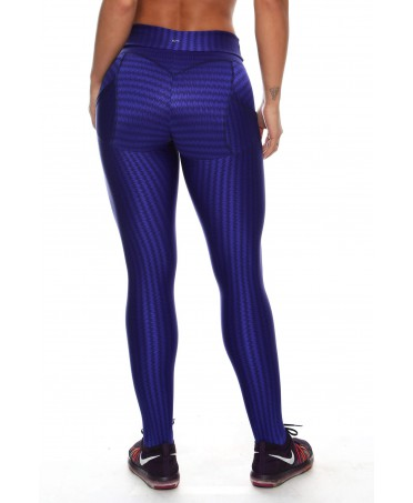 LEGGINGS PUSH-UP SHINY BLUE...