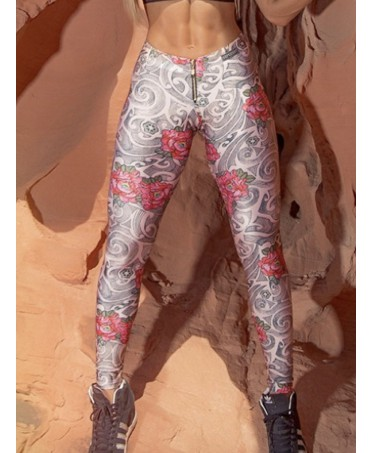 RED ROSES LEGGING  SUPERHOT