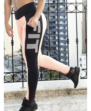 LEGGINGS ROSA-NERO...
