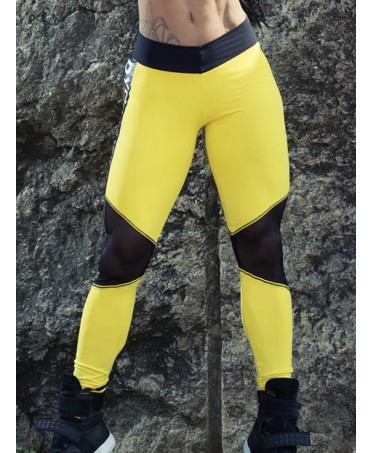 LEGGINGS DYNAMITE GIALLO E...