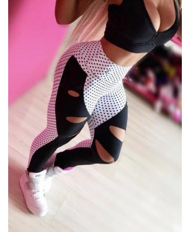 LEGGINGS A POIS IN SUPPLEX...
