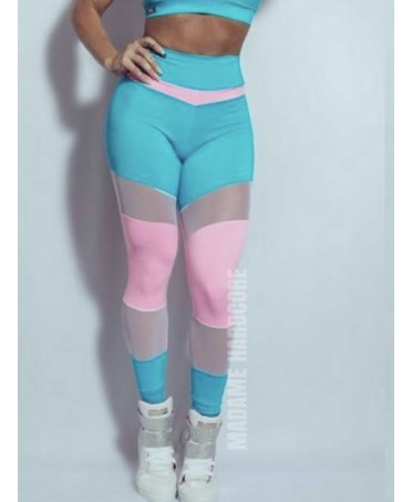 LEGGINGS ROSA E AZZURRO LOLLIPOP MADAME HARDCORE