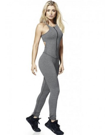 SUIT-FITTING GREY BACKLESS...