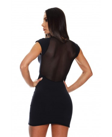 BLACK SHEATH DRESS WITH...