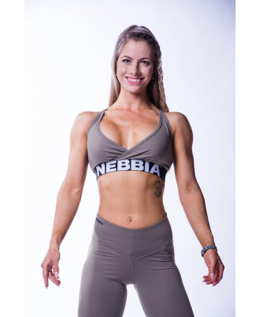 MINI TOP KHAKI NEBBIA