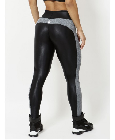 69c9f9bf5bf64 Leggings with a high waist compression black and gray shiny Canaon. A  beautiful leggings shaping that lifts the buttock, it hides the blemishes,  ...