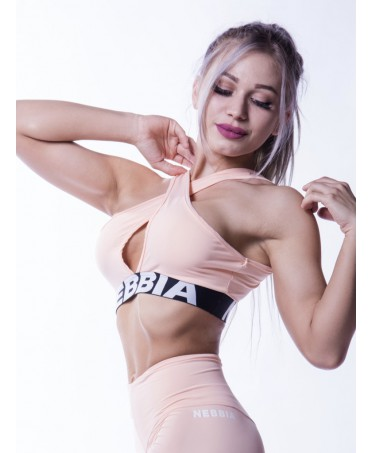 FITNESS TOP PINK CROSSED...