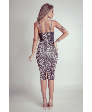 f44f22c309e7 The fabric also has an antibacterial and anti-mould to this mini dress  leopard print. The animalier style never goes out of fashion.The dress also  perfectly ...