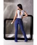 legging flare blu vintage canoan; fantaleggins.com; zampa di elefante blu aderente