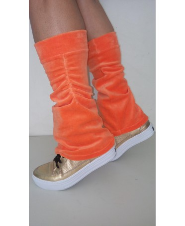 caldamuscoli orange chenille Canoan; soft, elasticated, fashion, fitness, fantaleggins online shopping