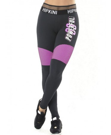 LEGGINGS NERO E FUXIA CON...