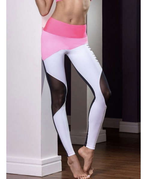 7778cd2ae866 Leggings pink jig Hipkini with back solid black. SUpplex 240 to model  curves without compression; soft to the touch, breathable.