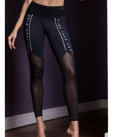 LEGGINGS GYM IN TULLE NERO...