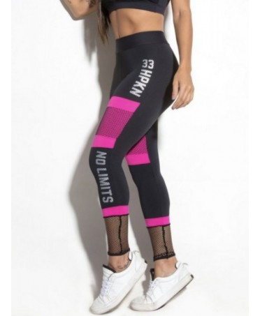 LEGGINGS FUXIA NERO CON...